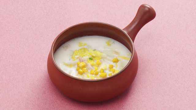 eヘルシーレシピ - 白菜のミルクスープ - 第一三共株式会社