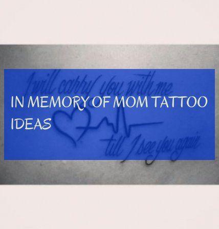 in memory of mom tattoo ideas ! in erinnerung an mama tattoo ideen ! #memory #ta…