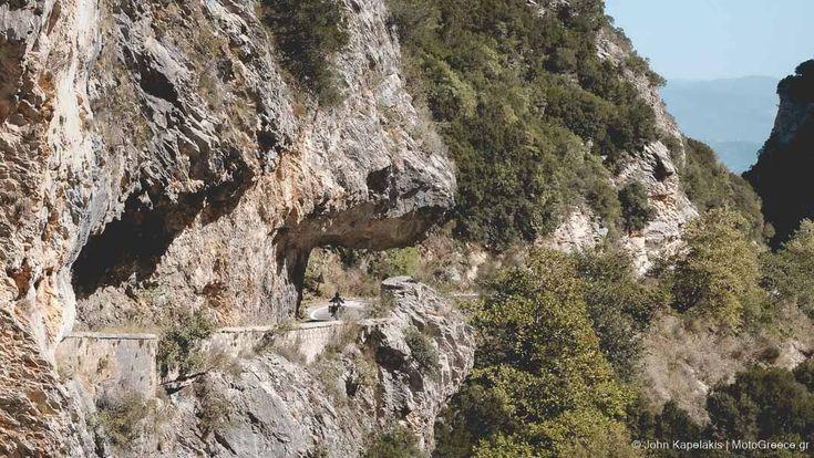 Taigetos mountain pass road