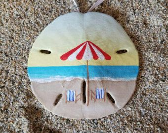 Seashore unique hand painted sand dollar ornament by TheSandShoppe