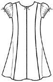 Выкройки: платье для девочки с бантиками из тесьмы - Бесплатные выкройки для шитья одежды