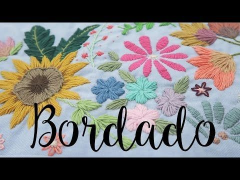 7 PUNTADAS A MANO PARA BORDAR - TUTORIAL - YouTube
