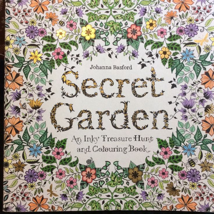 My Coloured In Secret Garden Colouring Book Cover GardenSecret GardensJohanna BasfordSecret