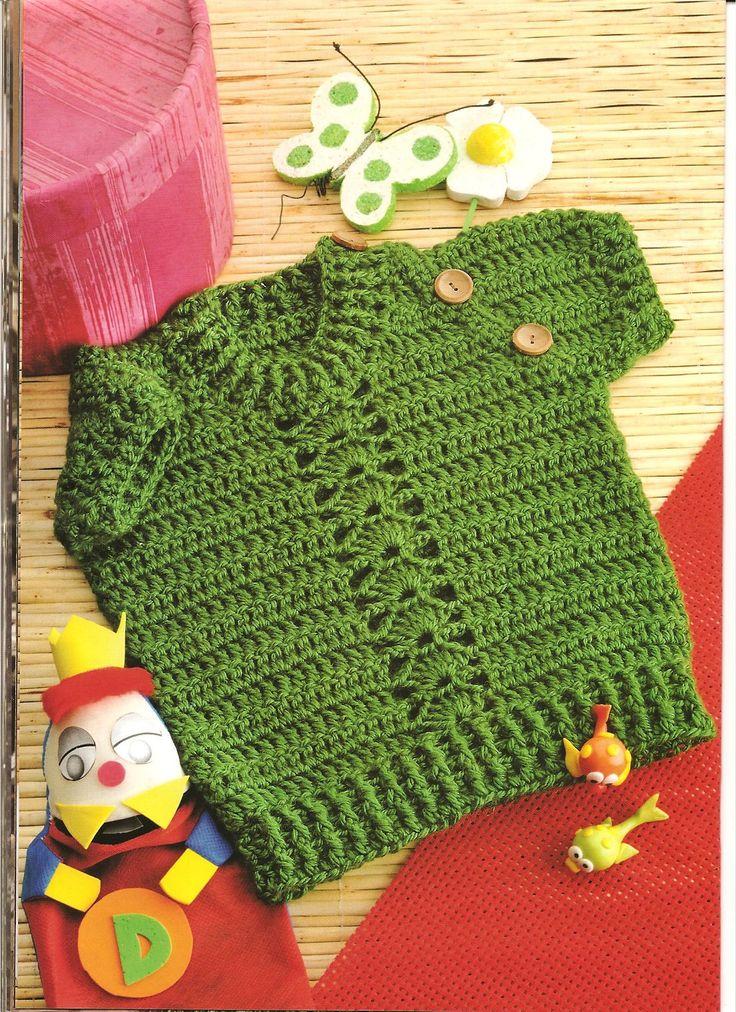 Bella patrones y gr ficos crochet chaleco a crochet para bebe