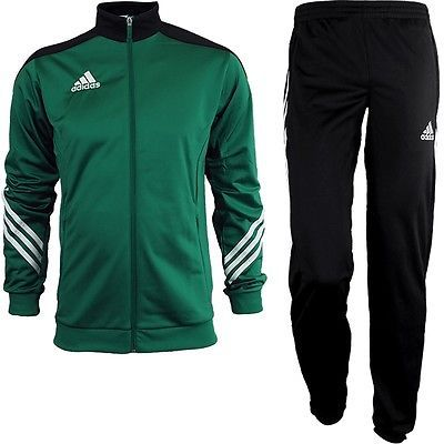 Track Suits 59339: Adidas Sereno 14 Mens Track Suit Green/White/Black Jogging Sports Training New -> BUY IT NOW ONLY: $78.89 on eBay!