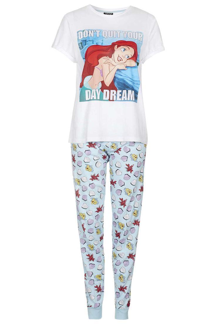 Ariel Print Pyjama Set - Nightwear - Clothing - Topshop