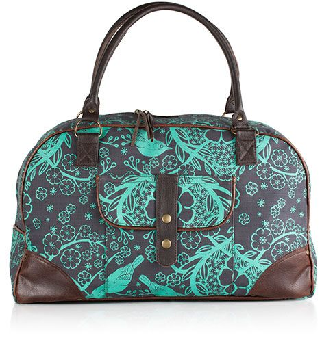 Our Zanzibar bag is a nice size away bag. See our website to select you fabric choice.