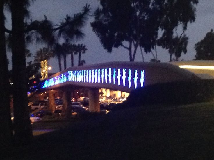 The bridge from The Westin at South Coast Plaza to the South Coast Plaza mall in Costa Mesa, CA