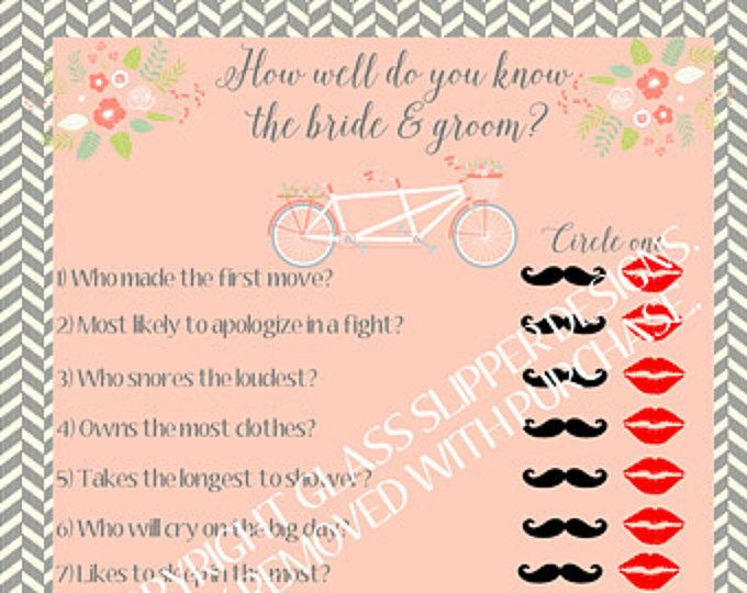 Best 25+ Bride And Groom Game Questions Ideas On Pinterest