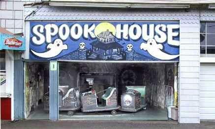 Boardwalk spook house.