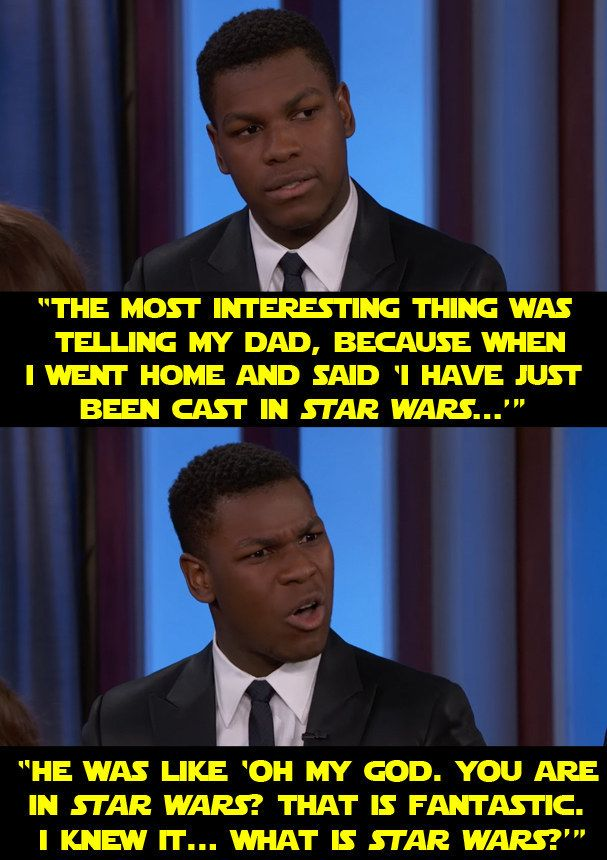"""When he told a story about his parents' reaction to him getting the part. 