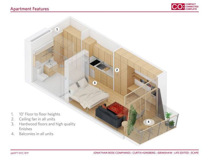 Meet the Five Finalists in NYC's Micro-Apartment Competition - Curbed NY