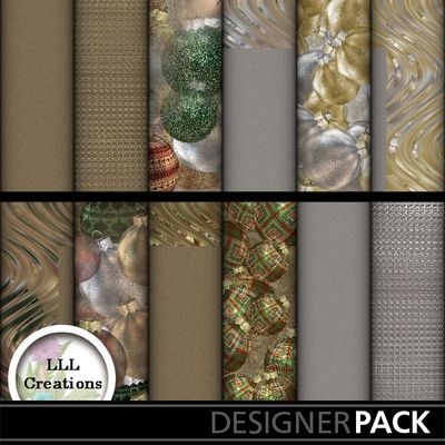 Christmas Ornament Papers #1 by LLL Creations. #scrapbooking #digitalscrapbooking #Christmas #LLLCreations