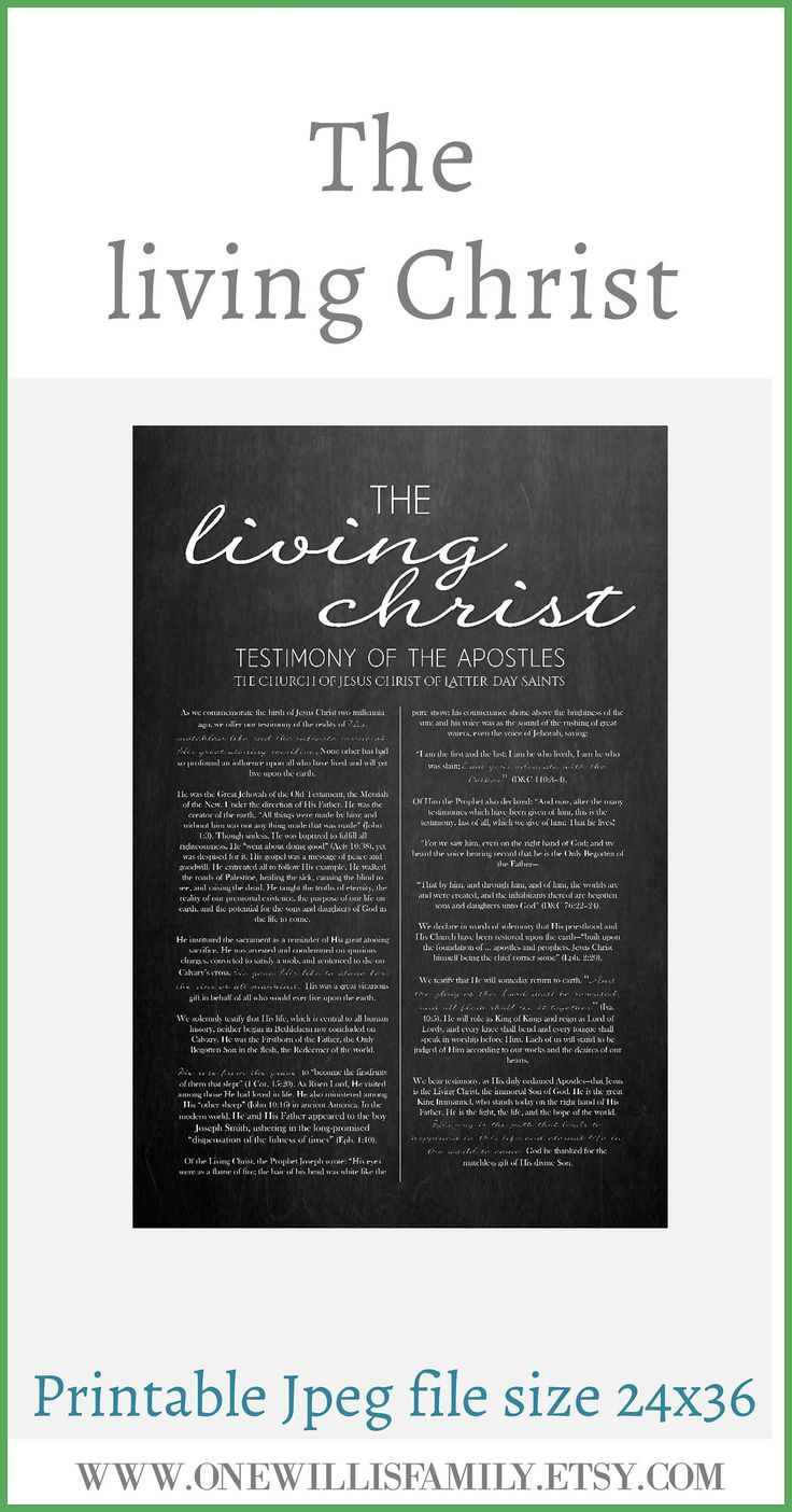 Family Proclamation Living Christ Articles Of Faith Etsy Family Proclamation Lds Printables Articles Of Faith