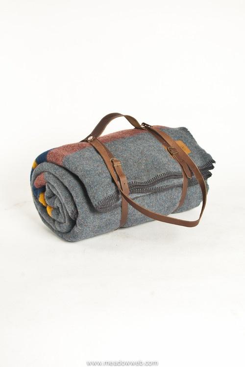 pendleton wool blanket leather strap