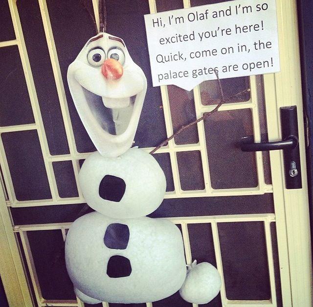 Welcoming Olaf