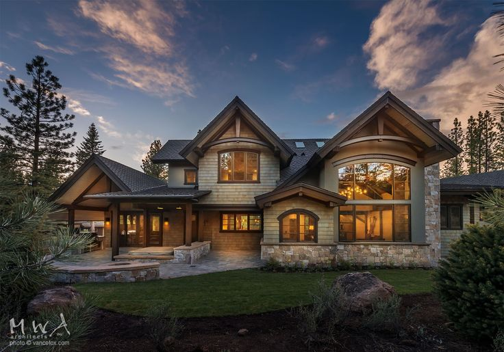 MWA Inc, Architects: Martis Camp-419   | Chimney | Skylights | Spa | Exposed Structural Steel Beams | Cedar siding | Exposed Structural Steel | Wood Shake Siding | Composition Asphalt Shingle | Ashlar Style | Basalt | Granite | Outdoor Kitchen | Porch