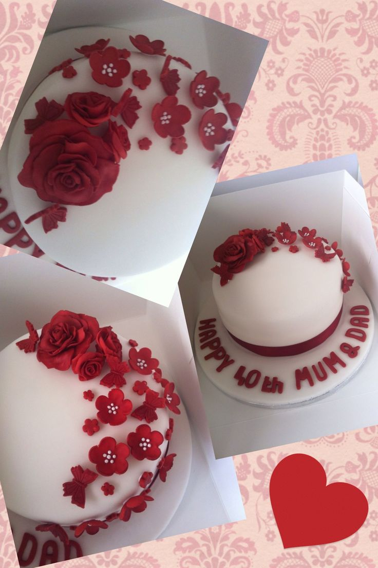 Best 25 wedding anniversary cakes ideas on pinterest for 40th anniversary decoration
