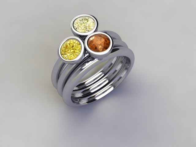'Pina Colada' stacker ring available at  www.lucymecklenburghjewellery.com in association with www.diamondgeezer.com