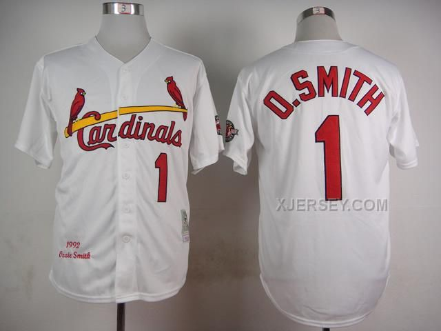 http://www.xjersey.com/cardinals-1-osmith-white-1992-throwback-jersey.html Only$35.00 CARDINALS 1 O.SMITH WHITE 1992 THROWBACK JERSEY Free Shipping!