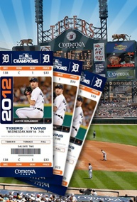 Detroit Tigers tickets! A day at Comerica Park and Tigers baseball.