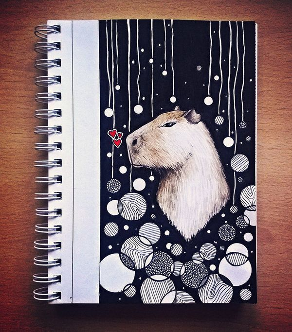 Deep thoughts with capybara by eamanee.deviantart.com on @DeviantArt