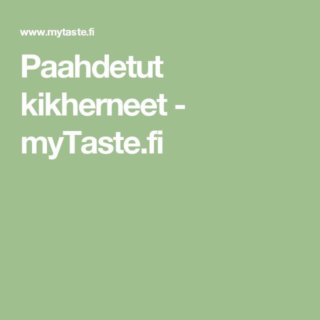 Paahdetut kikherneet - myTaste.fi
