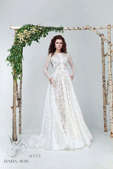 Lace wedding dress ALYTA wedding dress by RaraAvisAngeEtoiles