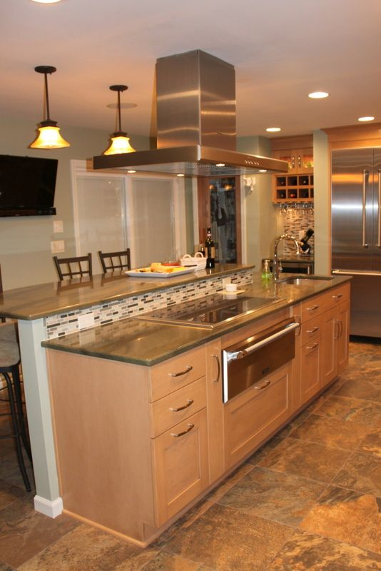 Island kitchens pinterest for Kitchen cabinets pinterest