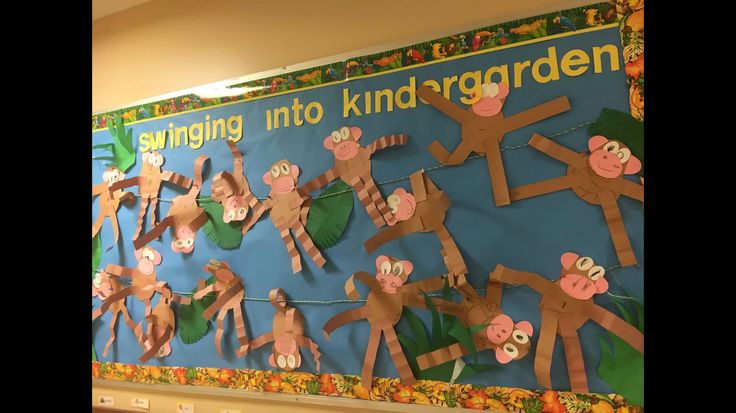 Swinging into kindergarten  Bulletin board