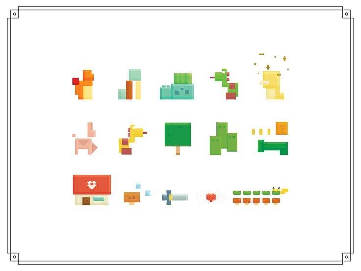 some childhood pixels by Alice Lee