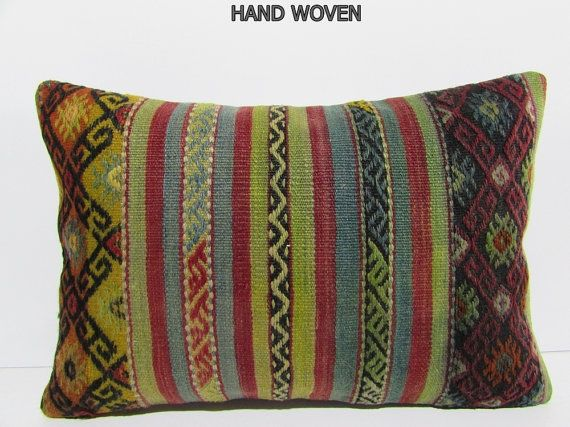 violet kilim pillow 16x24 hippie pillow cover throw pillow couch bedroom pillow case primitive pillow cover contemporary pillow lumbar 31330