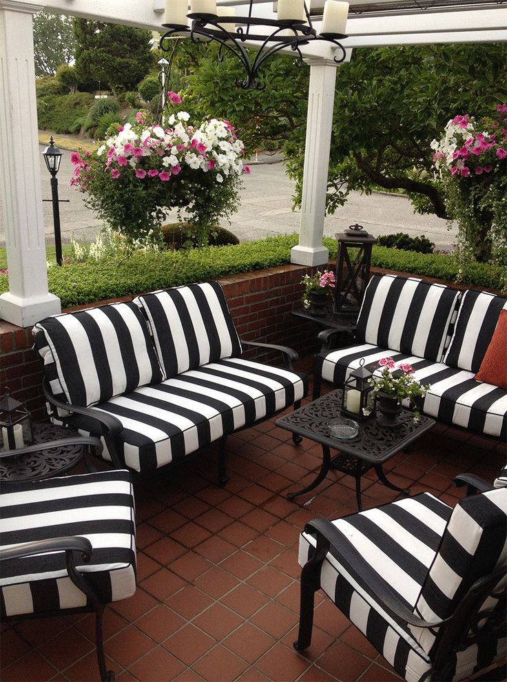Patio Furniture Seattle Black And White Striped Outdoor Furniture