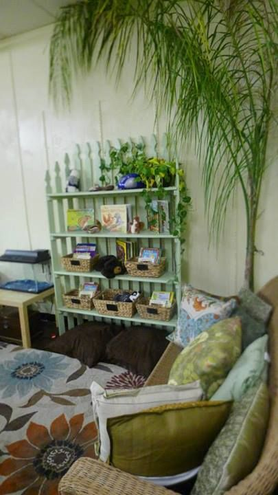 "Wish we had space for a sofa in the book corner - from 'Discovery Early Learning Center' ("",)"