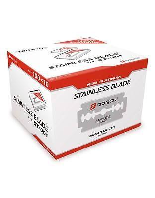 Mens Razors: 1000 Dorco Stainless Double Edge Razor Blade For Barber Razor Platinum St-301 -> BUY IT NOW ONLY: $64.99 on eBay!