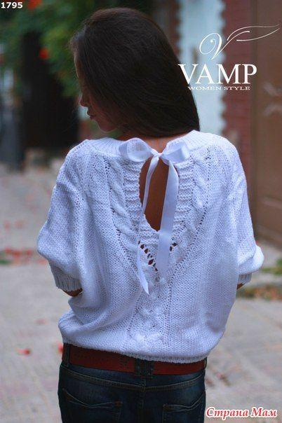 Девочки очень хочу связать такую себе кофту  давно все на ее заглядываю кофта забрана в хотелки от сюда:  http://www.stranamam.ru/