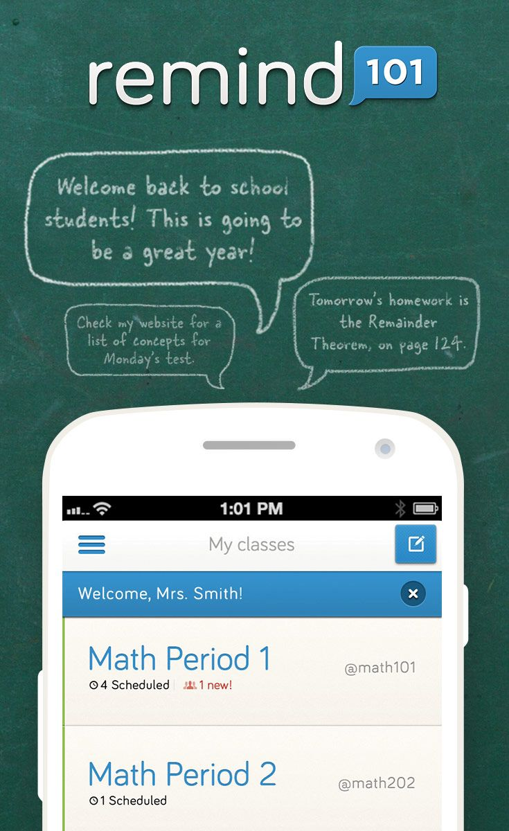 Remind101 is a FREE, safe way for teachers to text message