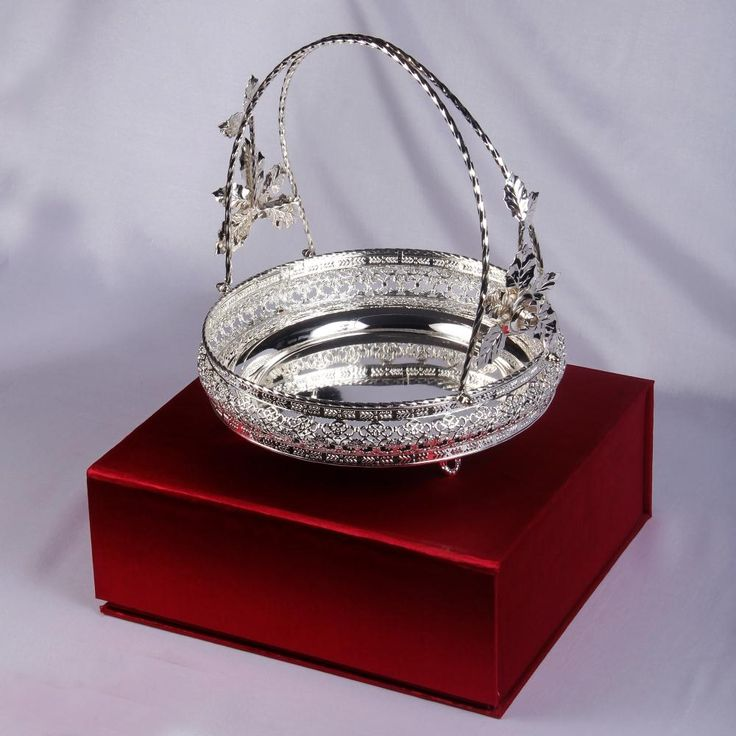 Silver Plated Basket With Holder
