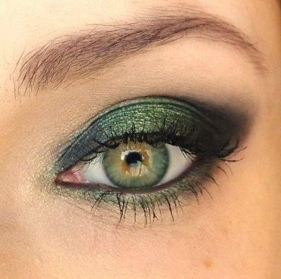Emerald green eye.