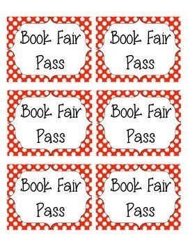 These book fair passes are a great way to know if students are supposed to be shopping at the book fair or if they just snuck in while running an errand for their teacher.Print these book fair passes on cardstock, laminate them, and give them to your teachers during the book fair.