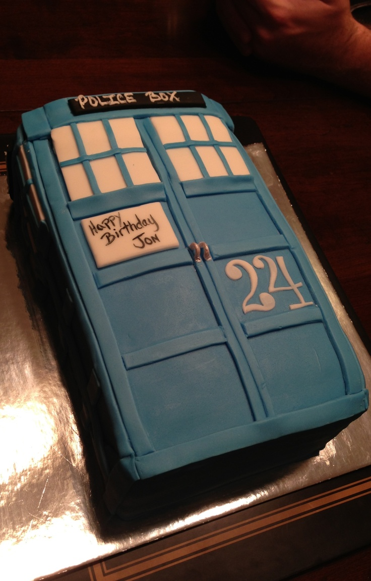 Dr. Who Tardis birthday cake for my brother's 24th.
