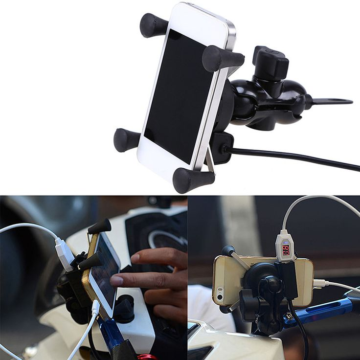 X-Grip Type Mobile Phone Holder with USB port