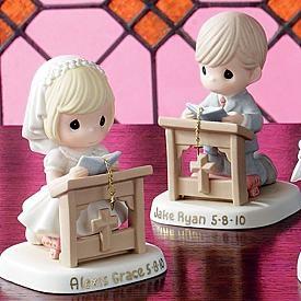 Communion/Confirmation Girl Kneeling Figurine