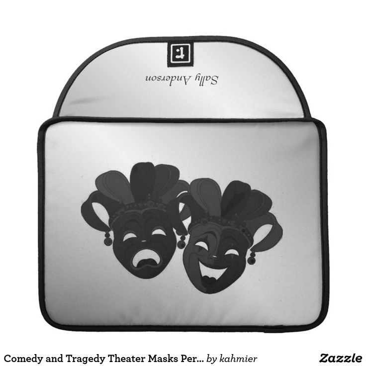 Comedy and Tragedy Theater Masks Personalized Sleeve For MacBook Pro