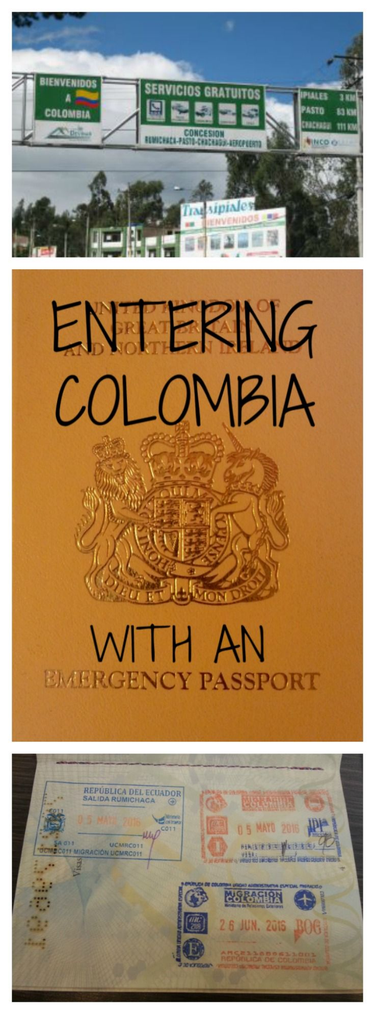Travelling with an emergency passport is nervewracking!  Read how I entered Colombia with an emergency passport