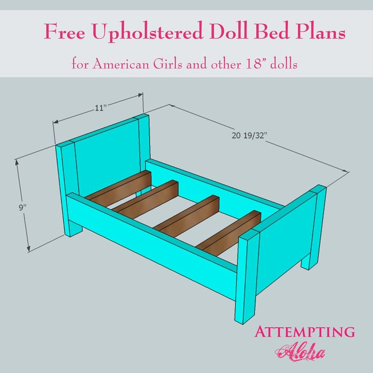 Attempting Aloha: Upholstered American Girls Doll Bed Plans                                                                                                                                                                                 More