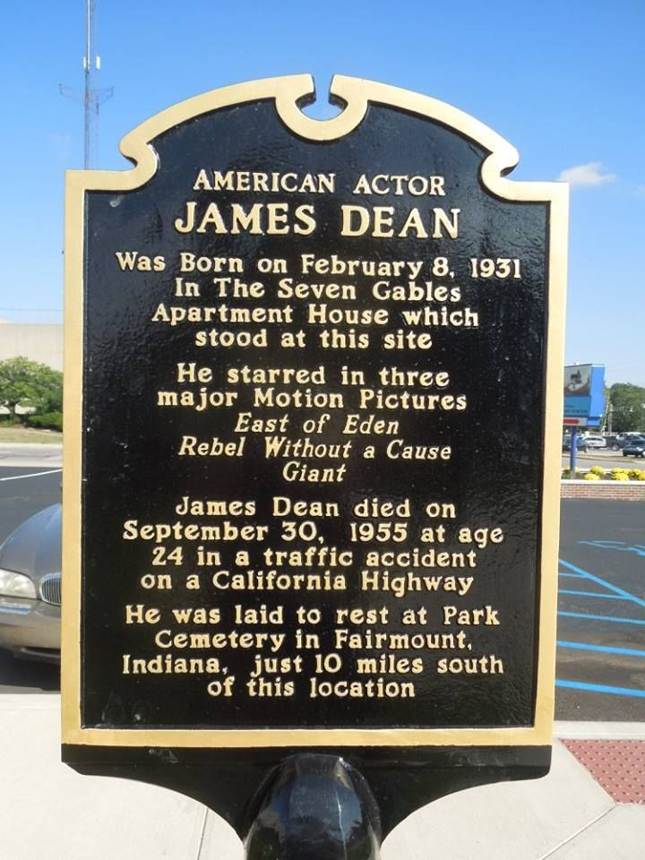 James Dean birth site Marion Indiana