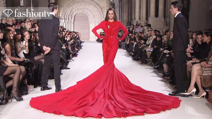 Yasmin Le Bon in 110-Pound Gown at Stephane Rolland Show - Paris Couture...