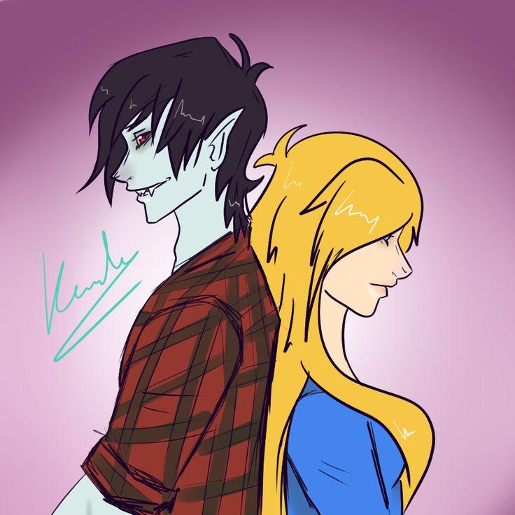 #MarshallLee y #Fiona  #Drawing #Painting #Draw #Paint #Art #Artistic #Picture #Graphics #Comic #AdventureTime #HoraDeAventuras #AT #HDA #Vampire #Human #Anime #Manga #Girl #Boy #Love