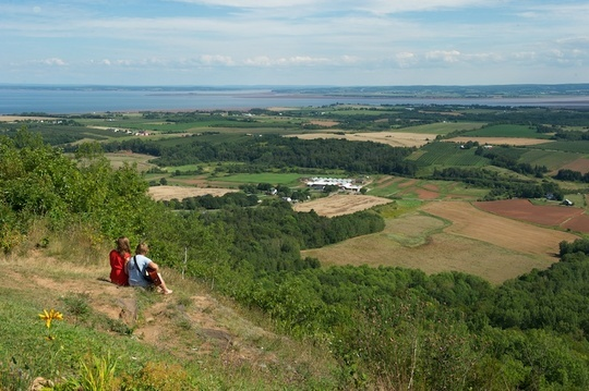 A view of the Minas Basin from the lookoff near Canning